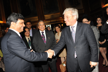 The Rt. Hon. John Bercow MP with Dr. Virander Paul