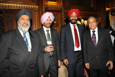 Guests enjoying the reception