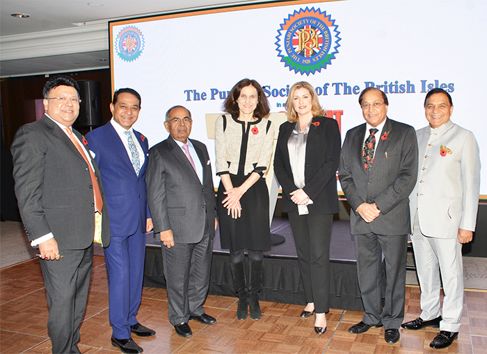 Rt. Hon. Theresa Villers, Rt. Hon. Penny Mordaunt and Mr GP Hinduja with PSBI President , Vice President and Patrons