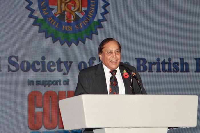 Dr Ranger Ranger CBE entertaining the guests with some Punjabi sense of humour