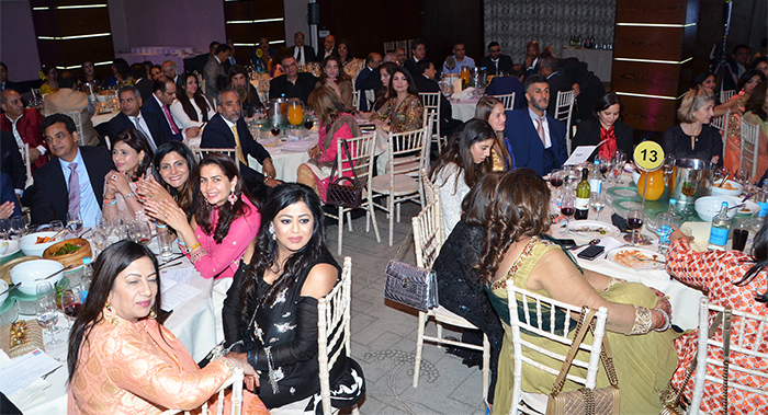 Guests enjoying the entertainment